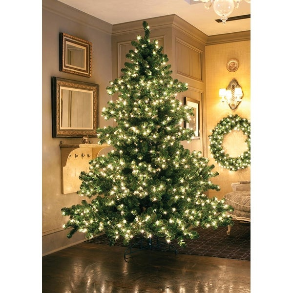 9' Pre-Lit Middleton Full Layered Artificial Christmas Tree - Clear Lights