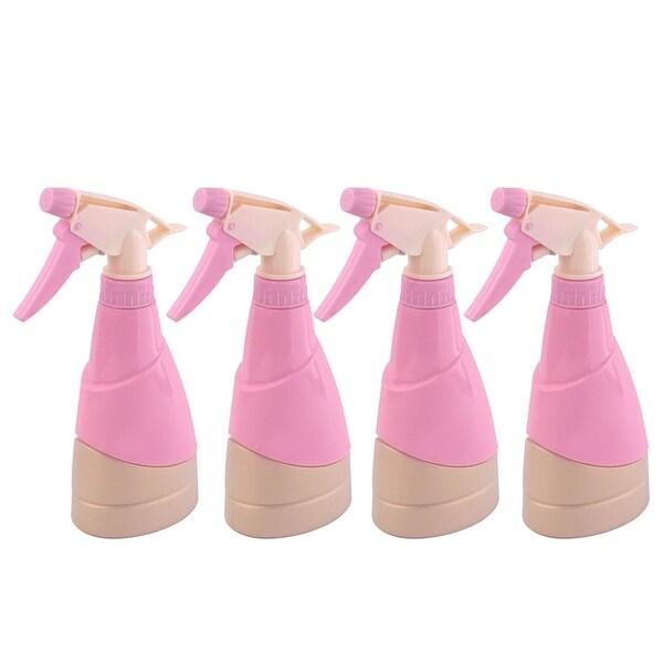 Garden Dormitory Plastic Hair Tree Flower Trigger Bottle Pink 300ml 4pcs
