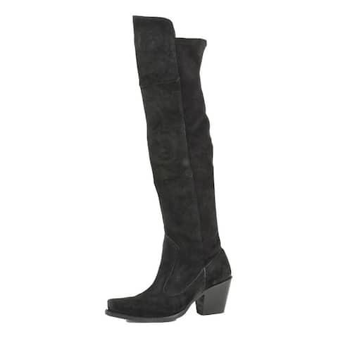 Stetson Fashion Boots Women Tatum Goat Suede Black