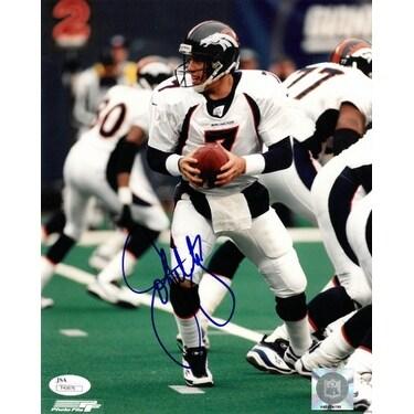 the latest c9c6b e735d John Elway signed Denver Broncos 8X10 Photo 7 JSA Hologram T40876 white  jersey passing