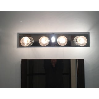 """Westinghouse 66411 4-Lights Bathroom Bar Fixture, 24"""" x 4.5"""", Chrome"""