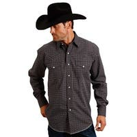 Stetson Western Shirt Mens L/S Print Snap Black