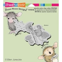 """Stampendous House Mouse Cling Stamp 3.5""""X4"""" -Make A Wish"""