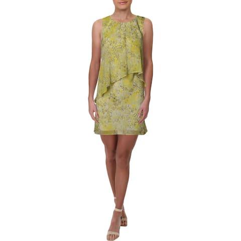 Lauren Ralph Lauren Womens Petites Party Dress Drape Floral