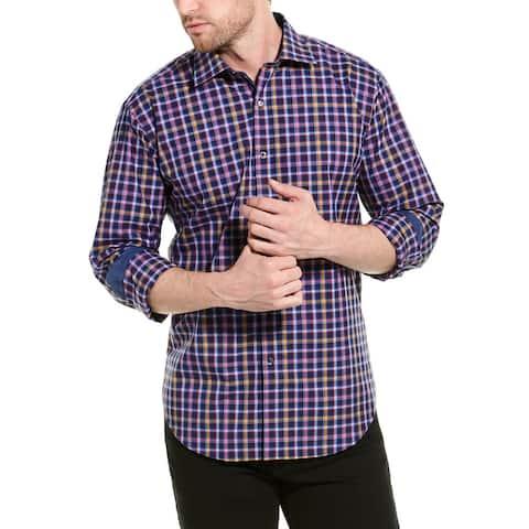 Bugatchi Shaped Fit Woven Shirt