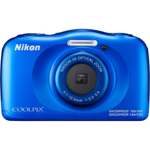Nikon Coolpix W100 Rugged Digital Camera (Blue)