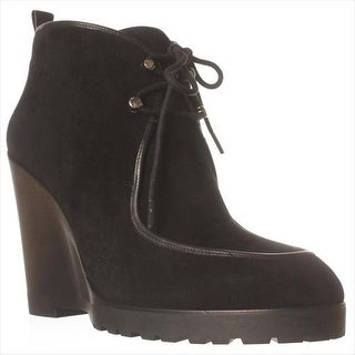 MICHAEL Michael Kors Beth Wedge Lace-Up Ankle Booties, Black