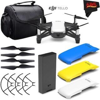 Ryze Tech Tello Quadcopter #CP.PT.00000252.01 + Ryze Tech Snap-On Cover for Tello (Blue) + Carrying Case Bundle