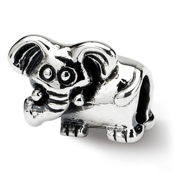 Sterling Silver Reflections Kids Elephant Bead (4mm Diameter Hole)
