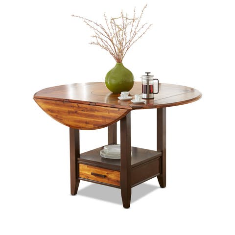 Copper Grove Jeanette 42-inch Round Counter Height Drop Leaf Table - Brown