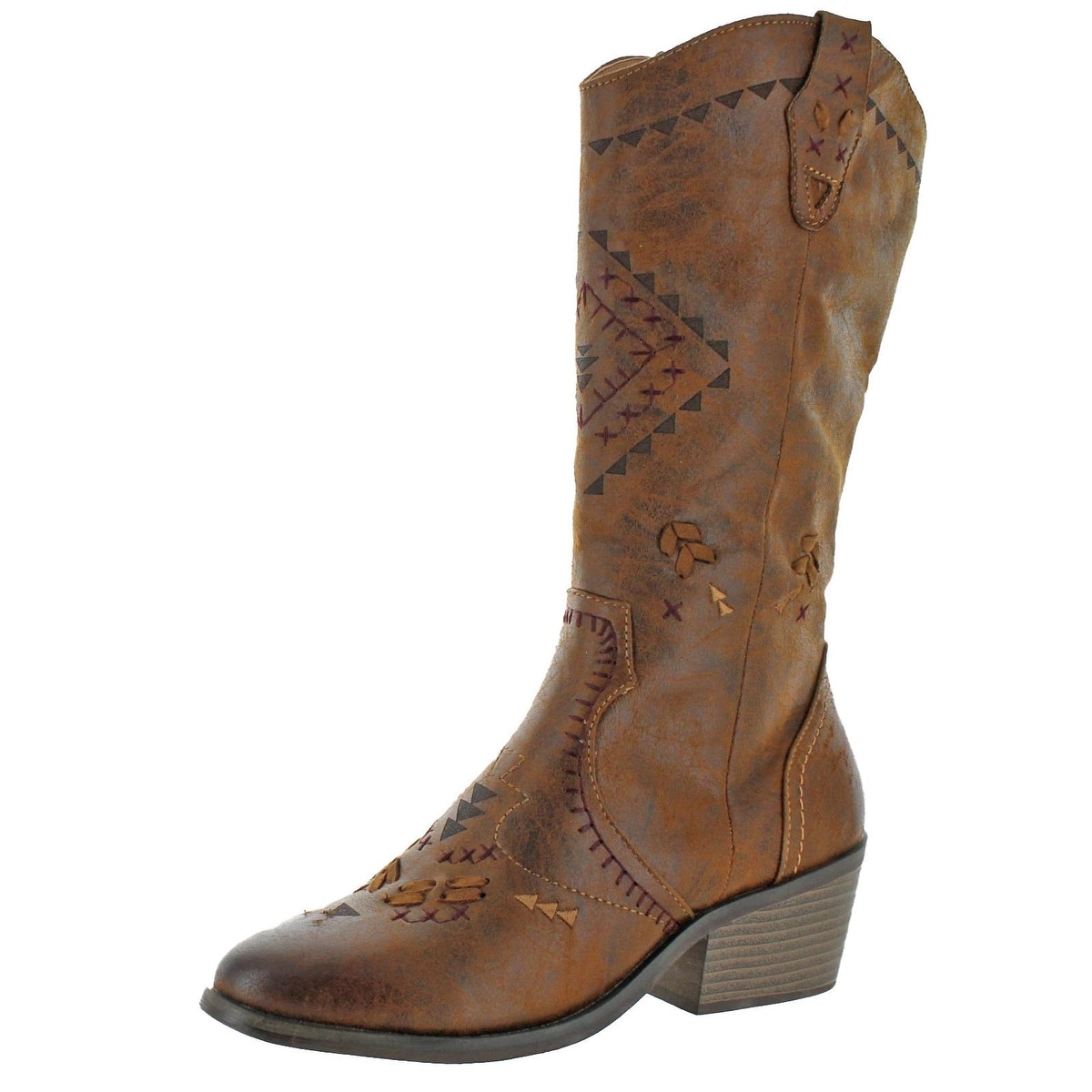 hot products new arrival vast selection Altar'd State by Coolway Womens Cowboy, Western Boots Embroidered Block Heel
