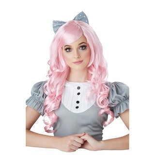 Womens Cosplay Doll Costume Pink Wig