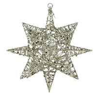 "7"" Sparkling Gold 3-Dimensional Decorative Star Shaped Christmas Ornament"