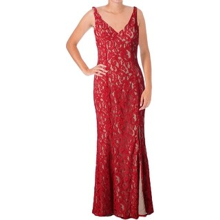 BCBGeneration Womens Evening Dress Lace Overlay Sleeveless - 2