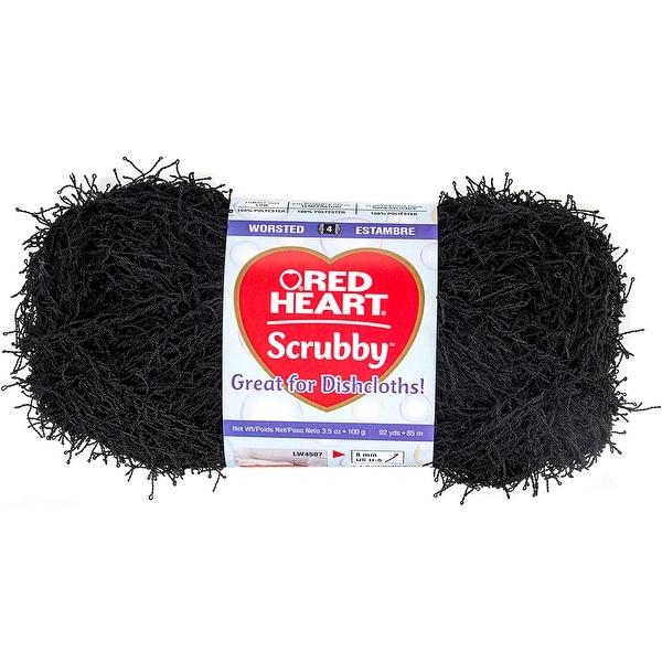 Red Heart Scrubby Yarn-Black