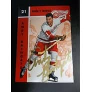 Signed Bathgate Andy Detroit Red Wings Parkhurst Hockey Card autographed