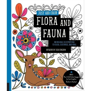 Rockport Books-Just Add Color - Flora & Fauna