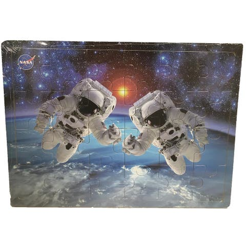 Astronauts in Space 24-pc Wood Puzzle - 9' x 12'