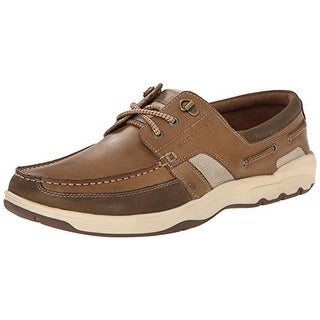 Rockport Mens Class Racing 3 Eye Ox Boat Shoes Leather Signature - 10 medium (d)