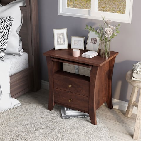 Copper Grove Ettrick Vintage Walnut Modern 2-drawer Nightstand