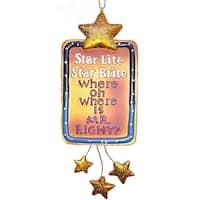 "Funny ""Star Lite Star Brite, Where Is Mr. Right?"" Christmas Ornament #W9029"