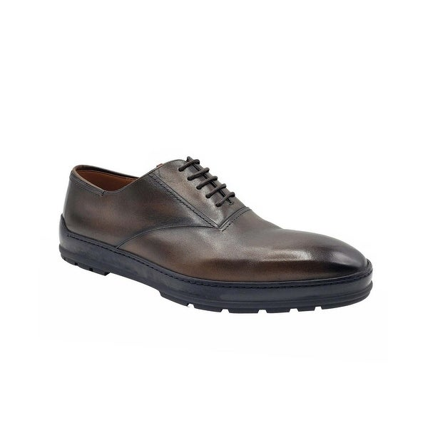 Bally Men's Medium Brown Renno Shaded Leather Lace Up Dress Shoes (10 EU / 11D US) - 10 EU / 11D US. Opens flyout.