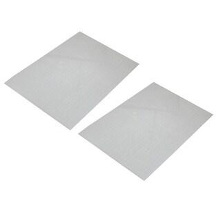 Unique Bargains Unique Bargains 2 Pcs Clear White PVC Business Home Shool A4 Paper File Document Bag