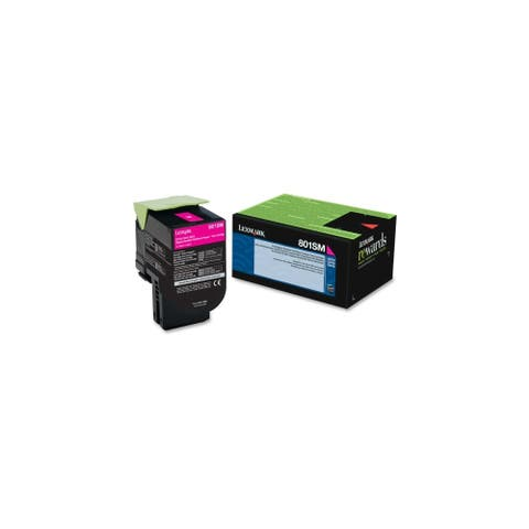 Lexmark 80C1SM0 Lexmark 801SM Magenta Standard Yield Return Program Toner Cartridge - Magenta - Laser - 2000 Page - 1 Each