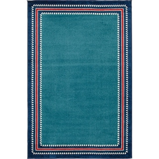 Link to Tecopa Nautical Multi Border Indoor Outdoor Woven Area Rug Similar Items in Rugs