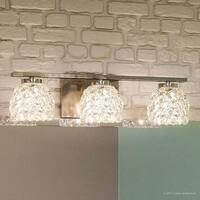 "Luxury Modern Bathroom Vanity Light, 5.5""H x 20""W, with Eclectic Style, Chopped Ice Design, Polished Chrome Finish"