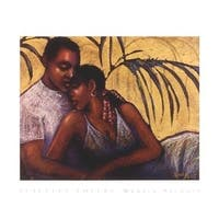 ''Peaceful Lovers'' by Monica Stewart African American Art Print (20 x 24 in.)