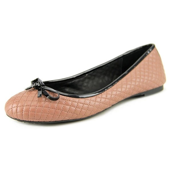 Michael Michael Kors Melody Quilted Ballet Women Leather Pink Ballet Flats