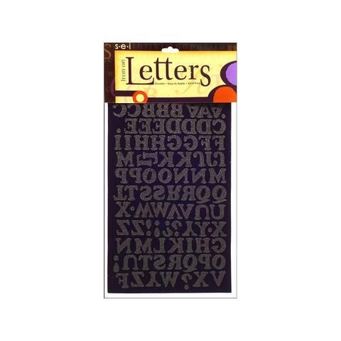 9-170 sei iron on art transfer letters chunky 75 black