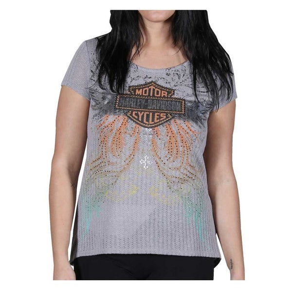 911e75ac Shop Harley-Davidson Women's Embellished Classy But Sassy Short Sleeve Tee,  Knit Gray - Free Shipping On Orders Over $45 - Overstock - 23042464