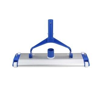 "17.5"" Classic Aluminum Weighted In-Ground Gunite Swimming Pool Vacuum Head on Wheels - Blue"
