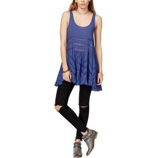 Free People Womens Slip Dress Lace Asymmetric