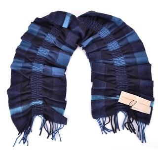 "Link to Burberry Cashmere Petrol Blue Nova Check Small Ruched Scarf Muffler - 55"" x 8"" Similar Items in Scarves & Wraps"