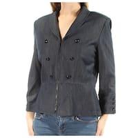 Womens Navy Wear To Work Blazer Jacket  Size  10