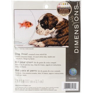 """Dog Bowl Counted Cross Stitch Kit-7""""X5"""" 14 Count"""