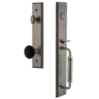 Grandeur CARCGRCOV_ESET_234  Carre Solid Brass Rose Keyed Entry Single Cylinder Full Plate 'C' Grip Handleset with Coventry Knob