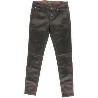 LRL Lauren Jeans Co. Womens Skinny Jeans Coated Mid-Rise