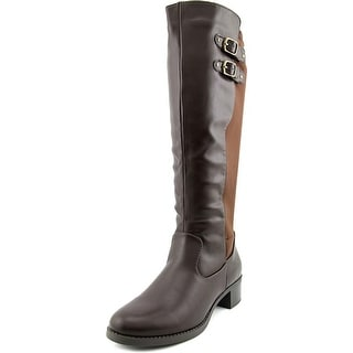 Easy Street Colton Women WW Round Toe Synthetic Brown Knee High Boot