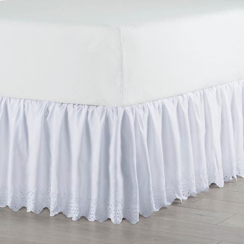 Martex Eyelet White Bed Skirt
