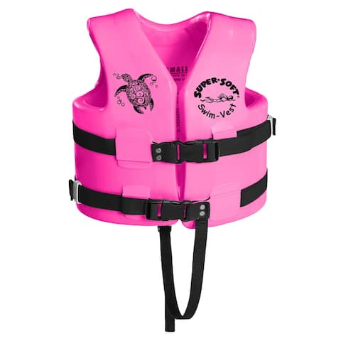 U.S. Coast Guard Approved Child's Vinyl Vest in Flamingo Pink