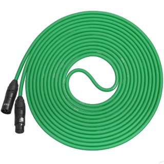 LyxPro Balanced XLR Cable Premium Series Microphone Cable, Speakers and Pro Devices Cable - 30 Feet (Option: Green)