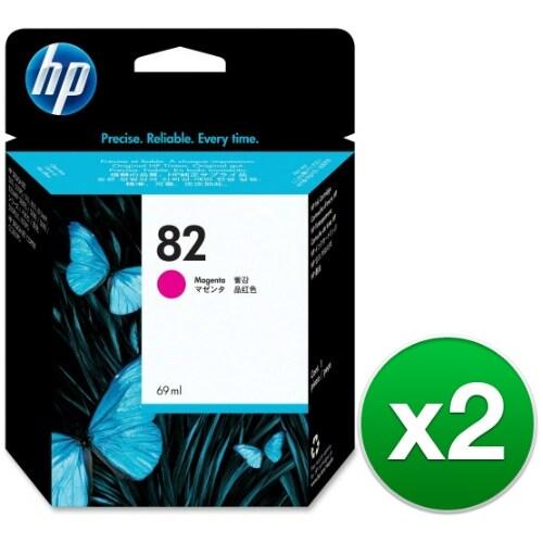 HP 82 69-ml Magenta DesignJet Ink Cartridge (C4912A) (2-Pack)
