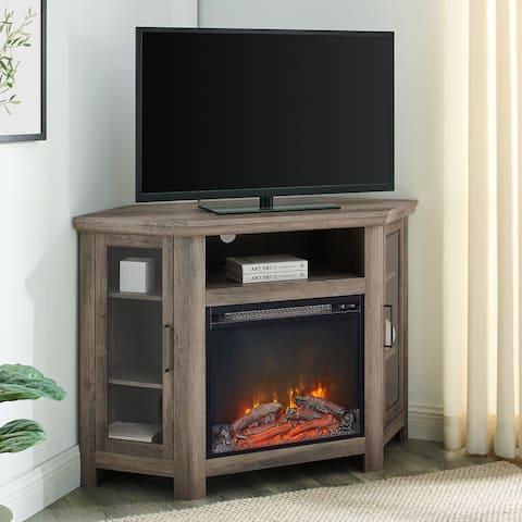 48-inch 2-door Corner Fireplace TV Stand