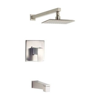 Danze D500062T Mid-Town Pressure Balanced Tub and Shower Trim with Single Function Rain Shower Head - Less Valve
