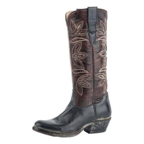 Stetson Western Boots Womens Legend Black Brown
