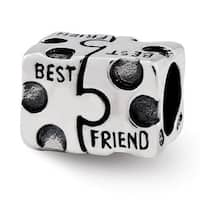 Sterling Silver Reflections Best Friend Bead (4mm Diameter Hole)